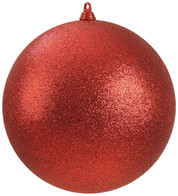 400mm GLITTER BAUBLES - RED - Red