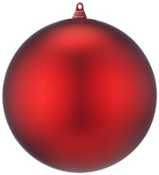 400mm MATT BAUBLES - RED - Red