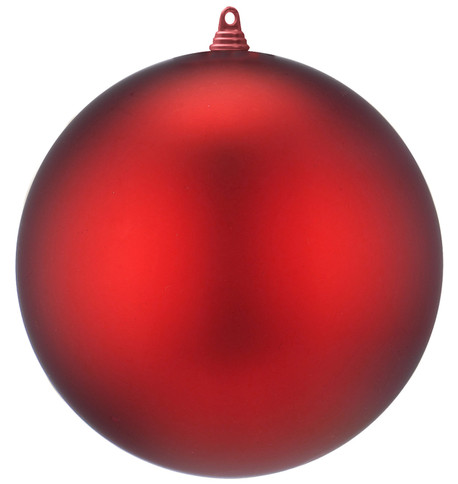 400mm MATT BAUBLES - RED Red