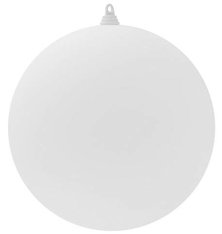 400mm MATT BAUBLES - WHITE White