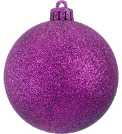 GLITTER BAUBLES - PURPLE - Purple