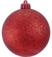 GLITTER BAUBLES - RED - Red
