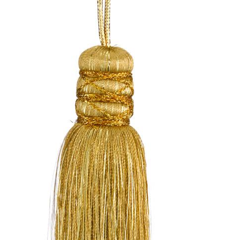 Silky Yarn Tassel - GOLD Gold