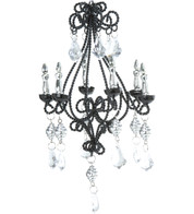 JEWELLED WIRE CHANDELIER - Black