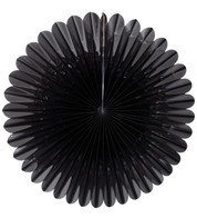 FOIL SUNFLOWER FAN - BLACK - Black