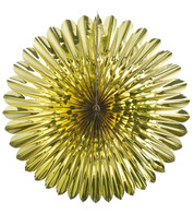 FOIL SUNFLOWER FAN - GOLD - Gold