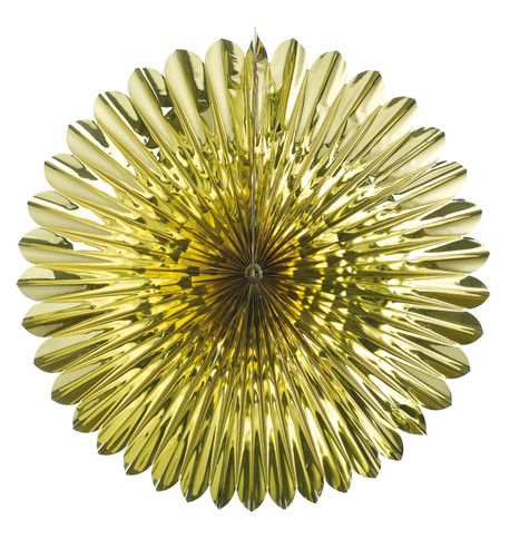 FOIL SUNFLOWER FAN - GOLD Gold
