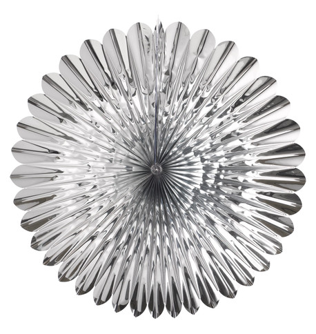 FOIL SUNFLOWER FAN - SILVER Silver