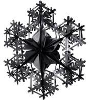 FOIL SNOWFLAKES - BLACK - Black
