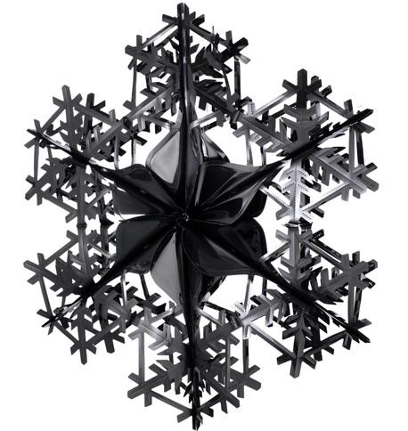 FOIL SNOWFLAKES - BLACK Black