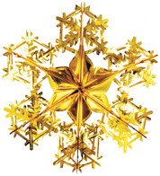 FOIL SNOWFLAKES - GOLD - Gold