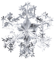 FOIL SNOWFLAKES - SILVER - Silver