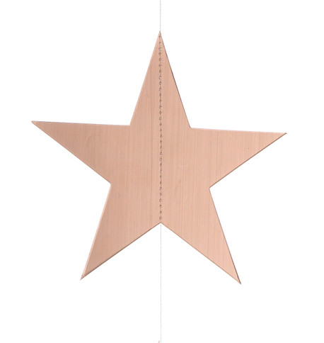 METALLIC CARD STAR GARLANDS - COPPER Copper
