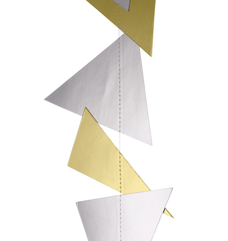 GEOMETRIC GARLANDS - GOLD & SILVER Gold & Silver