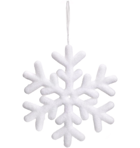 SNOWFLAKE - FLOCKED 40CM White