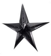 FOIL STARS - FOLD OUT - BLACK - Black