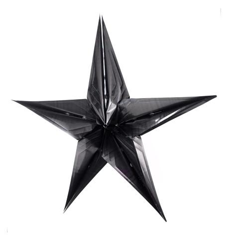 FOIL STARS - FOLD OUT - BLACK Black
