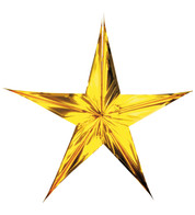 FOIL STARS - FOLD OUT - GOLD - Gold