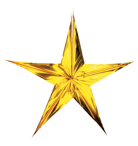 FOIL STARS - FOLD OUT - GOLD Gold