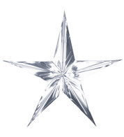 FOIL STARS - FOLD OUT - SILVER - Silver