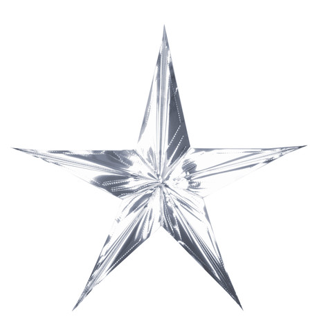 FOIL STARS - FOLD OUT - SILVER Silver