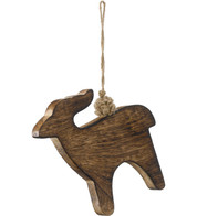 WOODEN DEER - Natural