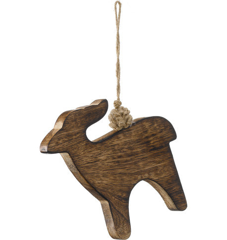 WOODEN DEER Natural