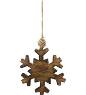 WOODEN SNOWFLAKE - Natural