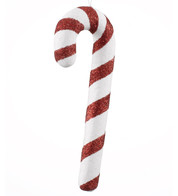 GLITTER CANDY CANE - Red And White