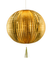 METALLIC PAPER BALL LANTERNS - LARGE - COPPER - Copper