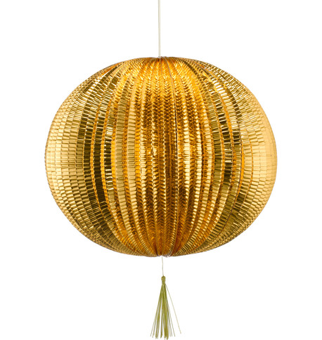 METALLIC PAPER BALL LANTERNS - LARGE - COPPER Copper
