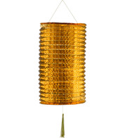 METALLIC PAPER COLUMN LANTERNS - LARGE - COPPER - Copper