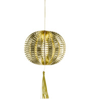 METALLIC PAPER BALL LANTERNS - SMALL - GOLD - Gold