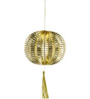 METALLIC PAPER BALL LANTERNS - SMALL - GOLD - Gold