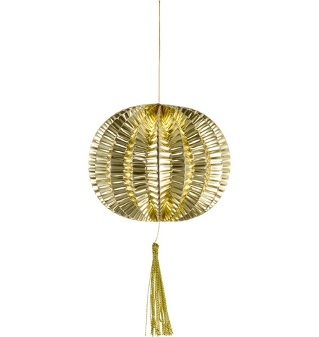 METALLIC PAPER BALL LANTERNS - SMALL - GOLD Gold