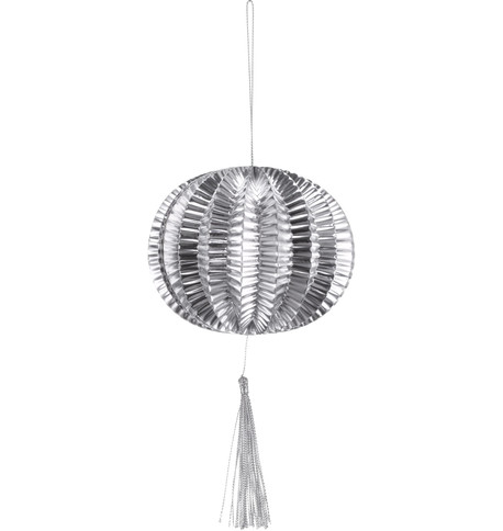 METALLIC PAPER BALL LANTERNS - SMALL - SILVER Silver