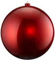 500mm HIGH GLOSS BAUBLES - RED - Red