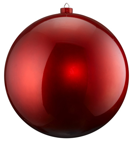 500mm HIGH GLOSS BAUBLES - RED Red