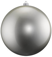 500mm HIGH GLOSS BAUBLES - SILVER - Silver