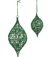 YARN WRAPPED DROP - GREEN - Green