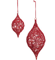 YARN WRAPPED DROP - RED - Red