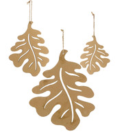 CORRUGATED OAK LEAVES - Brown
