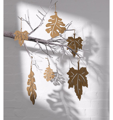 CORRUGATED OAK LEAVES Brown