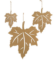 CORRUGATED MAPLE LEAVES - Brown