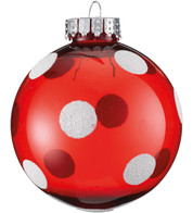 POLKA DOT BAUBLE - Red