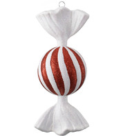 SWEET BAUBLE - GLITTER STRIPES - Red and White