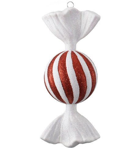 SWEET BAUBLE - GLITTER STRIPES Red And White