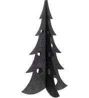 SPARKLE CHRISTMAS TREES - BLACK - Black