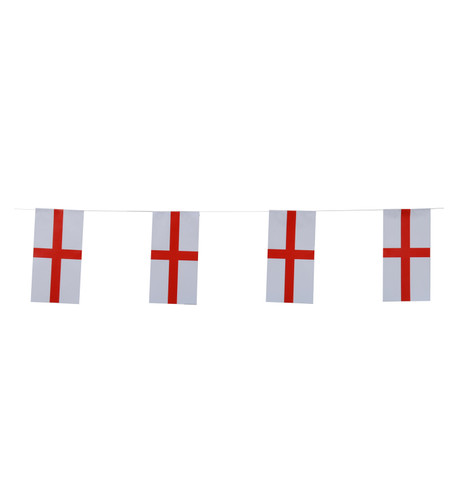 ENGLAND FLAG BUNTING Red And White