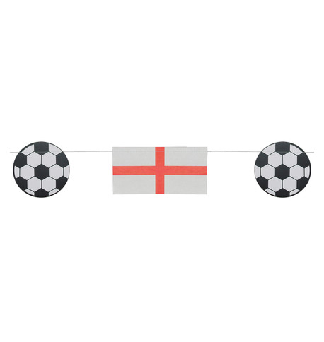England FLAG & FOOTBALL BUNTING Red And White